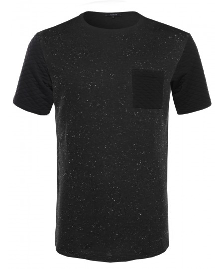 Men's French Terry Short Sleeve T-Shirt w/ Quilted Pocket