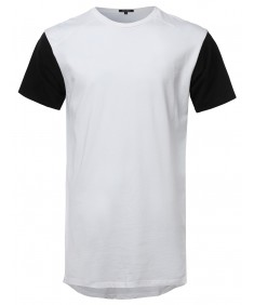 Men's Basic Tee With High-Low Hem