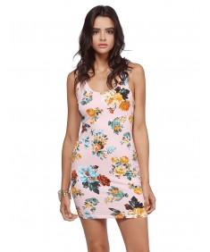 Women's Sleeveless Floral printed Mini Dress