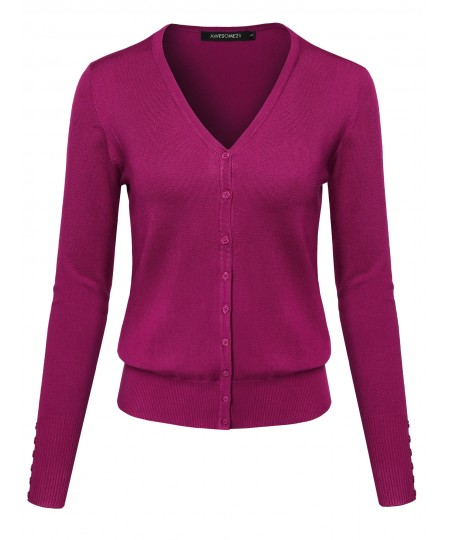 Women's Basic Solid Sweater Cardigans