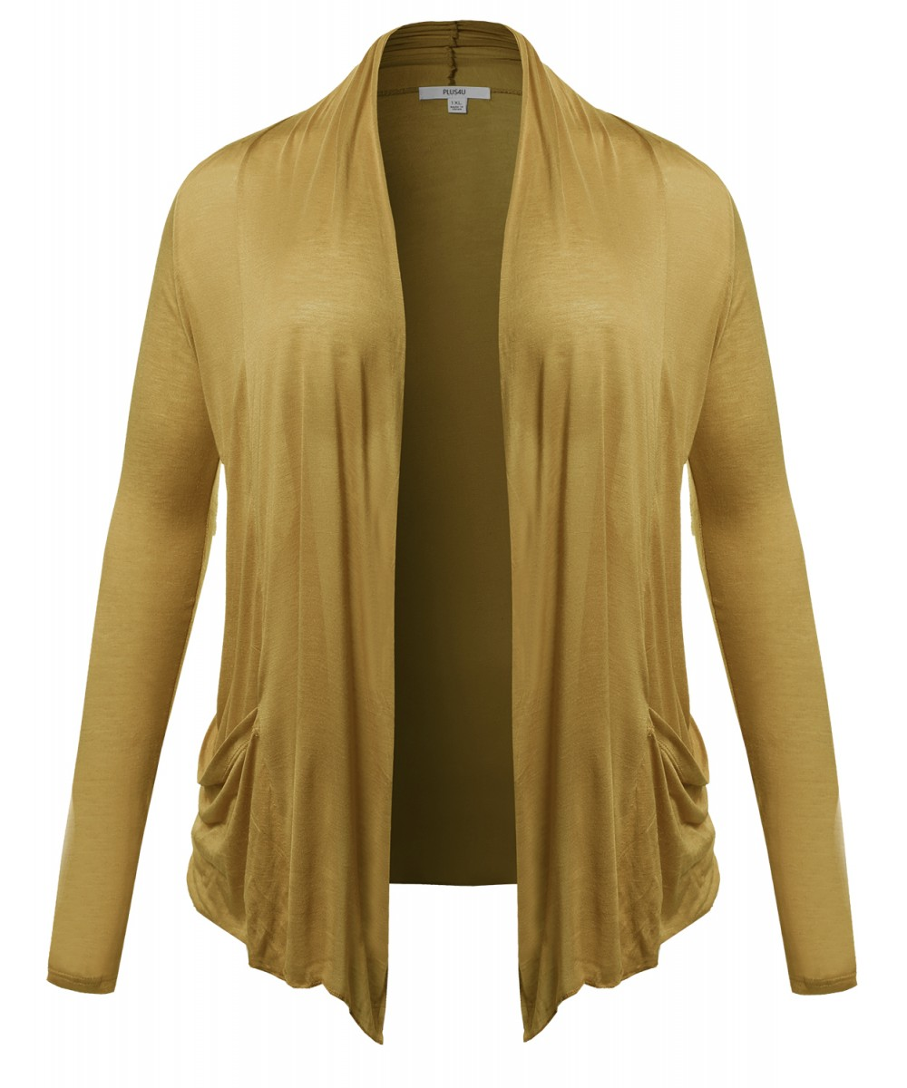 Women's Long Sleeve Flyaway Cardigan Plus Size Various Colors ...