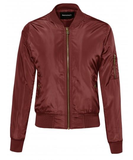 Women's Classic Bomber Jacket