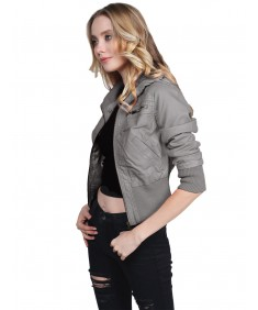 Women's Slim Fit High-Neck Collar Biker Faux Leather Jackets
