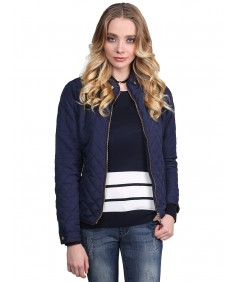 Women's Quilted Puffer Jacket With Fleece Lining