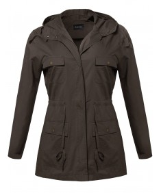 Women's Essential Lightweight Hooded Utility Jacket