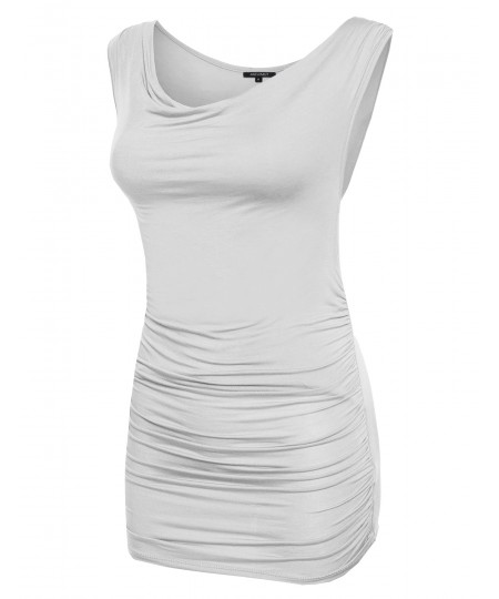 Women's Sleeveless Draped Tank Top