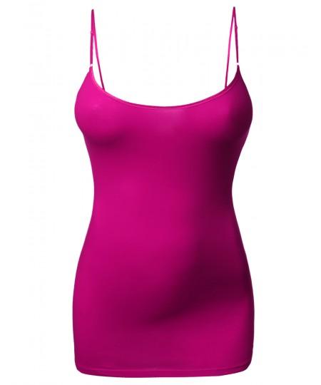 Women's Basic Cami Tank Top Spaghetti Strap Sleeveless Top