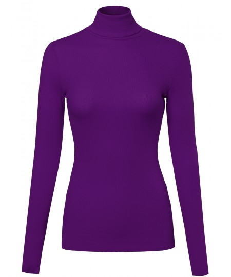 Women's Ribbed Turtle Neck Top