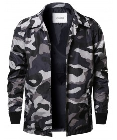 Men's Camouflage Printed Urban Style Light Weight Windbreaker Jacket