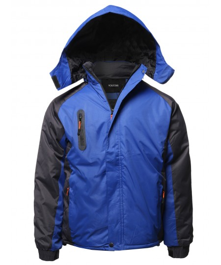 Men's Casual Outdoor Waterproof Winter Parka Jacket