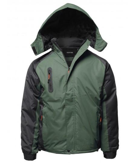 Men's Casual Outdoor Waterproof Winter Parka Jacket