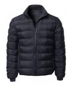 Men's Casual Waterproof Zipper Winter Padding Jacket