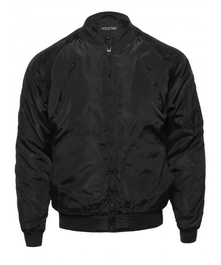 Men's Men's Casual Lightweight  Zipper Windbreakers Bomber Jacket