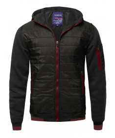 Men's Men's Solid Quilted Bomber Jacket