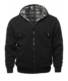 Men's Men's Hoodies Zip Up Reversible Winter Sweatshirt Jacket