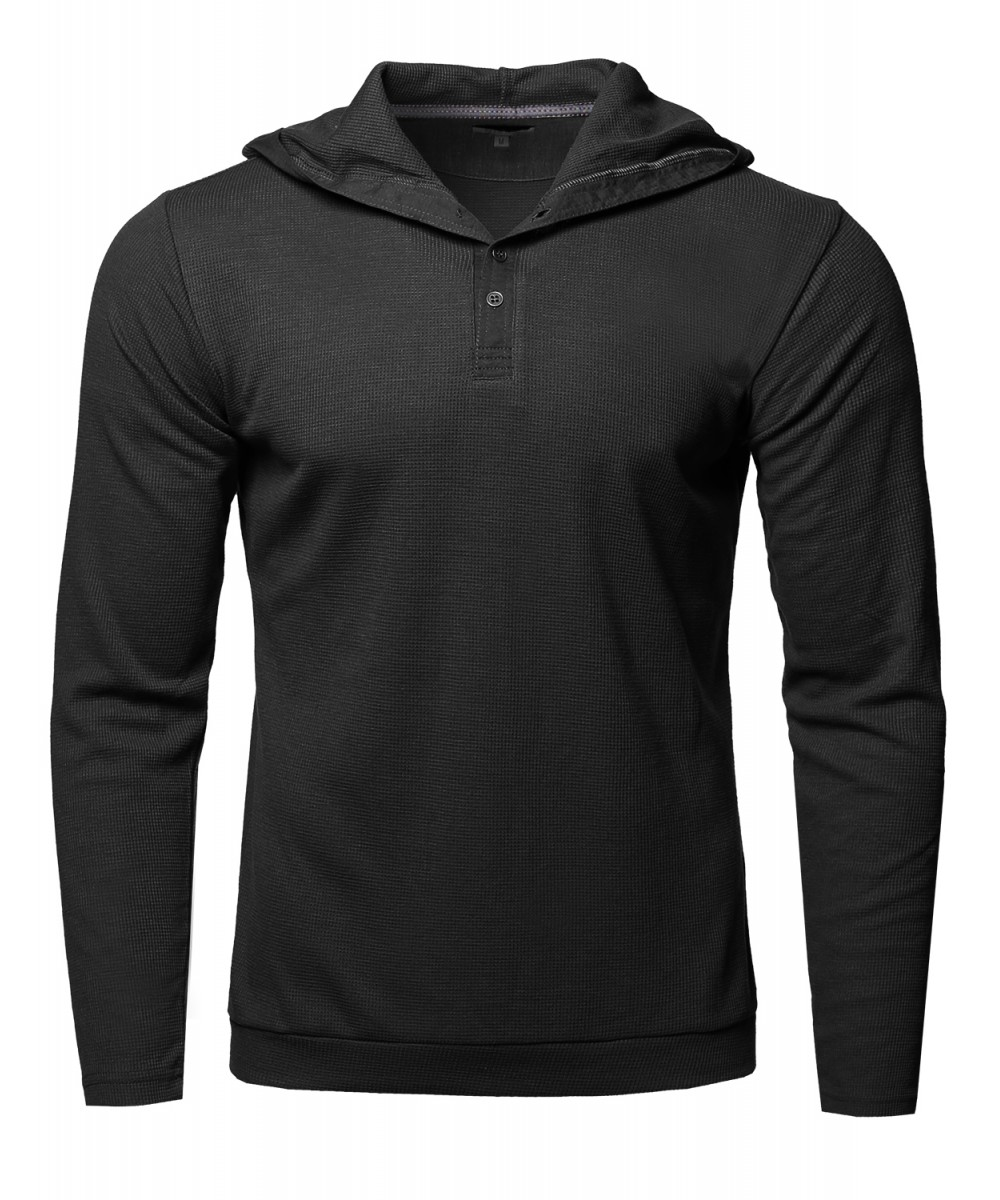 Men 39 s premium quality thermal hooded long sleeve t shirt for Boys long sleeve shirt with hood