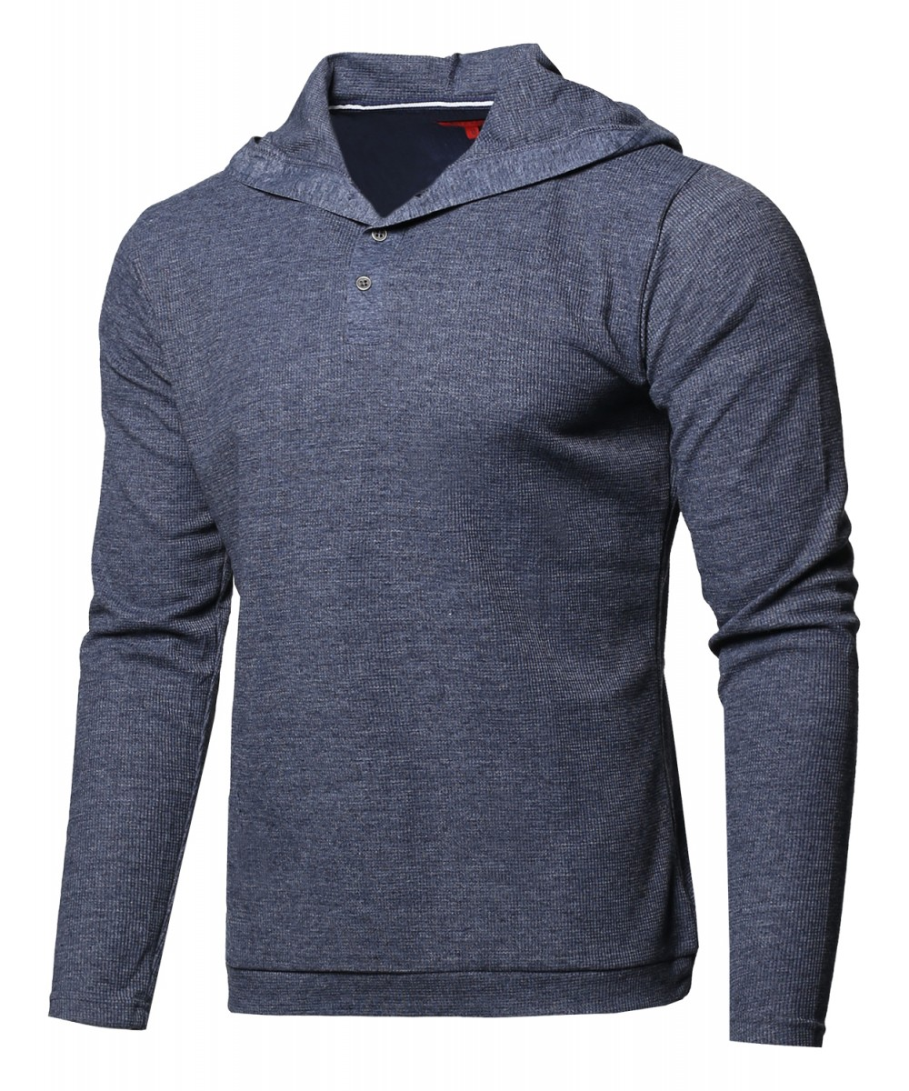 Men 39 s premium quality thermal hooded long sleeve t shirt for Good quality long sleeve t shirts
