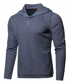 Men's Premium Quality Thermal Hooded Long Sleeve T-Shirt
