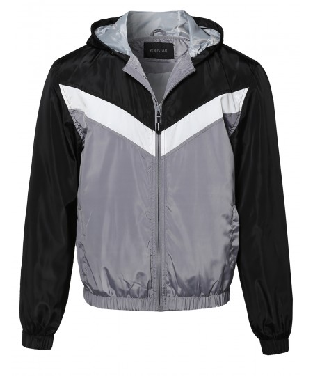 Men's Lightweight Hooded Waterproof Outdoor Windbreaker Jacket
