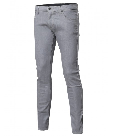 Men's Casual Stretch Pockets Skinny Fit Jeans