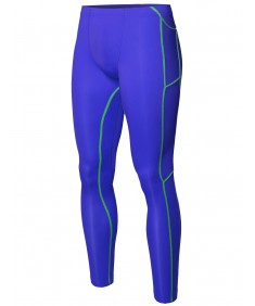 Men's Athletic Compression Base Under Layer Fitness Mesh Insert Tight Pant