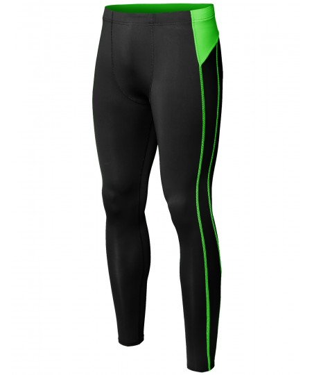 Men's Athletic Compression Base Under Layer Fitness Sports Tight Pant