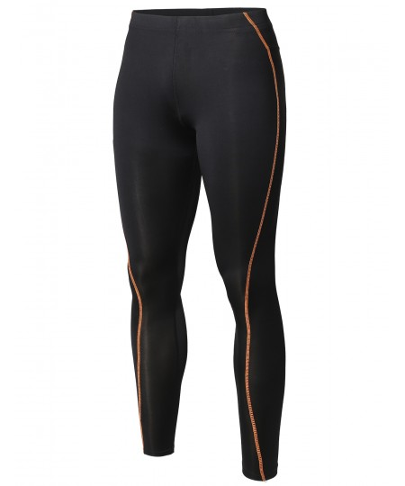 Men's Athletic Compression Base Under Layer Fitness Work Out Tight Pant