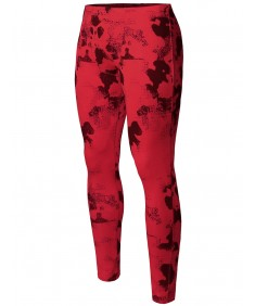 Men's Athletic Compression Base Under Layer Fitness Printed Tight Pant