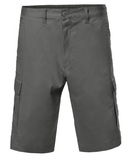 Men's 100% Cotton Casual Cargo Shorts