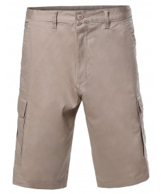 Men's 100% Cotton Casual Cargo Shorts