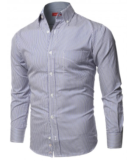 Men's Cotton Based Casual Formal Stylish Long Sleeves Button Down Shirt