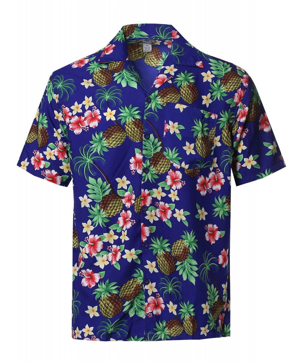 Men's Beach Hawaiian Tropical Caribbean Print Button Down Shirt ...