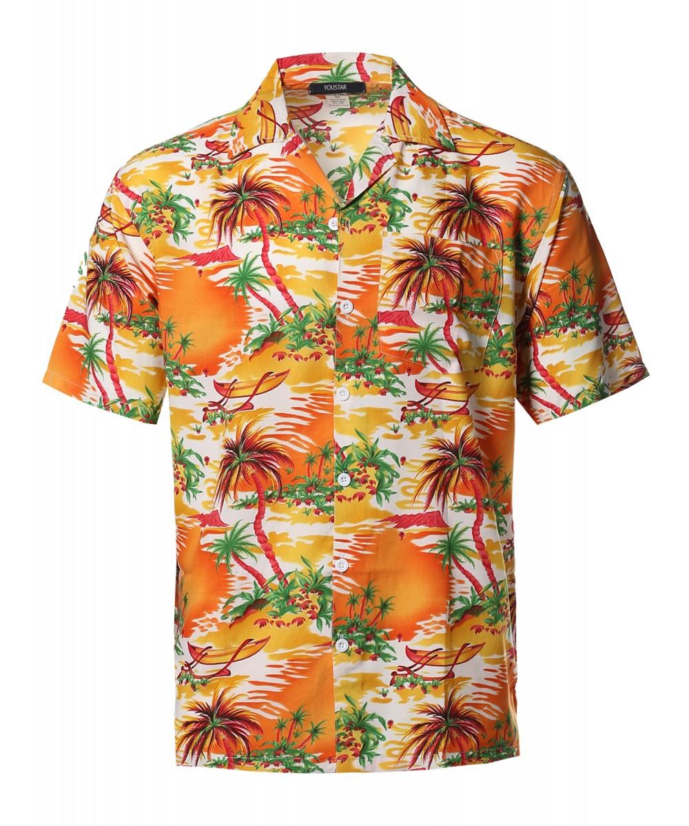 Men 39 S Beach Hawaiian Tropical Caribbean Print Button Down
