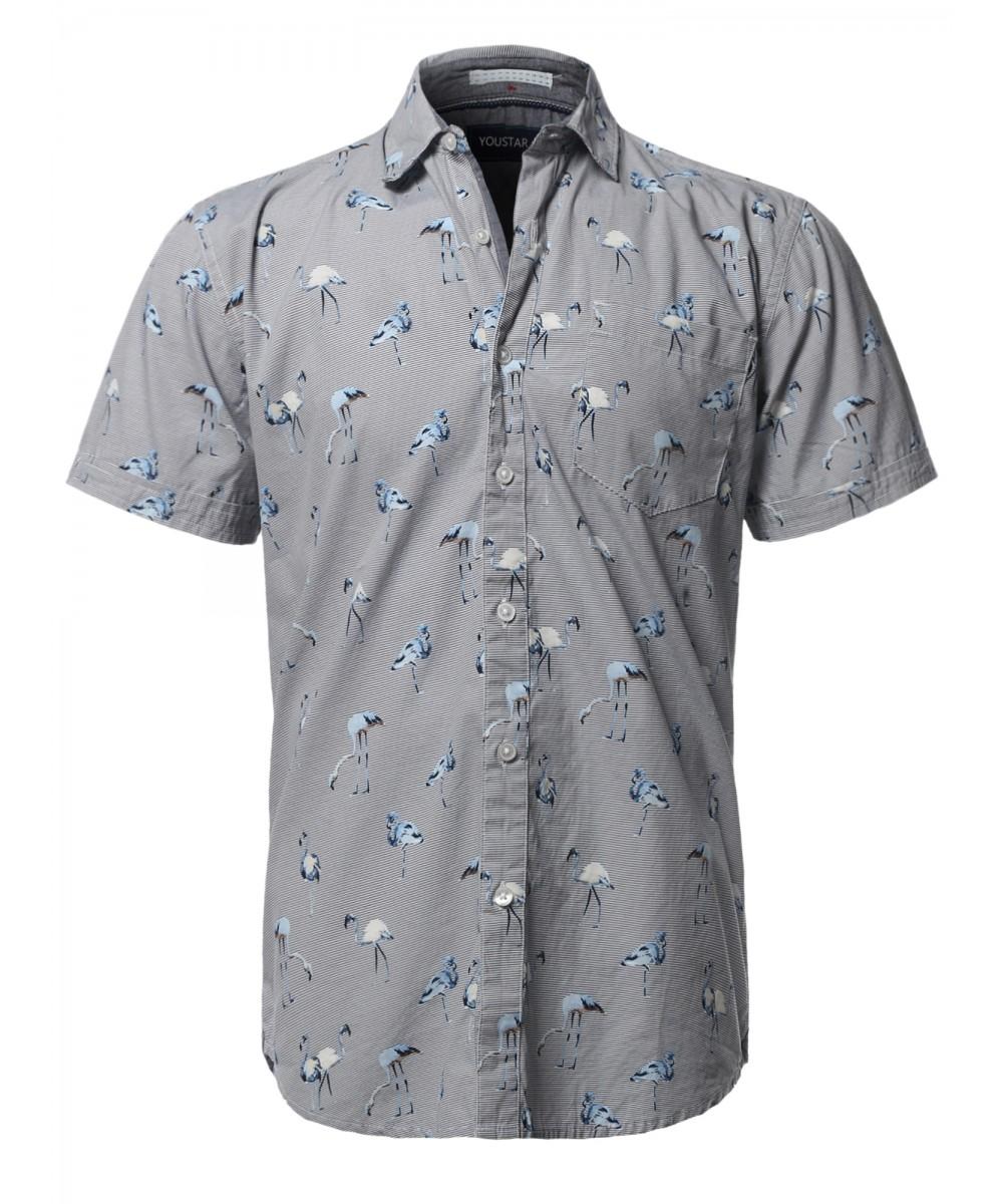 7c9392fa9 Men's Casual Tropical Beach Floral Print Hawaiian Shirts ...