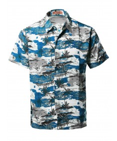 Men's Casual Hawaiian Short Sleeve Button Down Shirts
