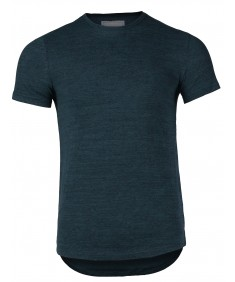Men's Basic Breathable Stretch Short Sleeve Crewneck Knit T-shirt Top