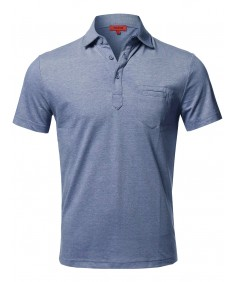 Men's Casual Premium Quality Short Sleeve Various Style Polo Top