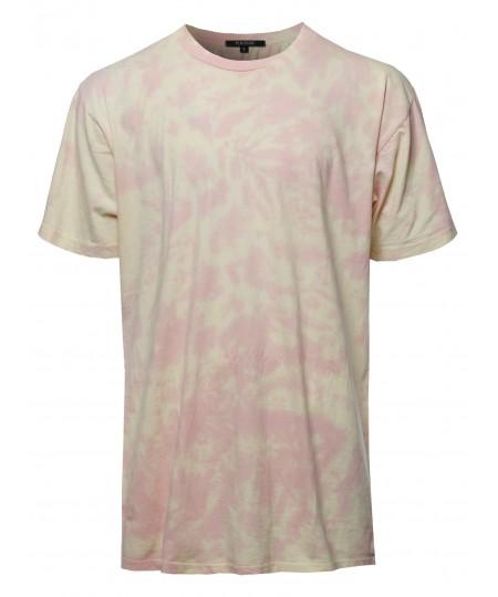 Men's Casual Tie-dye Short Sleeve Crew Neck Tee
