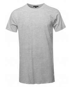 Men's Solid Basic Short Sleeve Crew Neck Tee