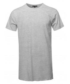 Men's Solid Basic Short Sleeve Crew Neck Tee