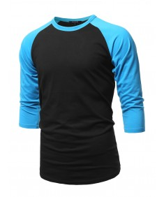Men's Casual 3/4 Raglan Sleeve Baseball Top