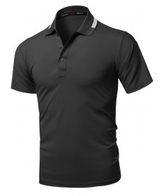 Men's Casual Solid Lightweight UV Protection Polo Shirts