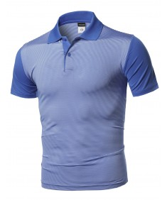 Men's Solid Cool Dri-Fit Active Leisure Short Sleeve Polo T-shirt Tee