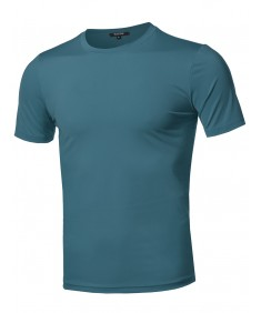 Men's Solid Cool Dri-Fit Active Short Sleeve Crewneck T-shirt Tee