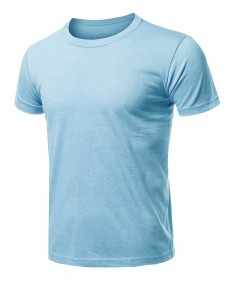 Men's Solid Cotton Based Basic Crew Neck T-Shirt Top