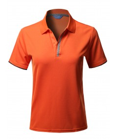 Women's Solid Cool Dri-Fit Double Layered Short Sleeves Polo