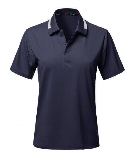 Women's Casual Solid Lightweight UV Protection Polo Shirts