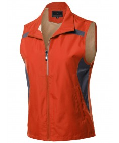 Women's Casual Zipper Closure Active Outdoor Utility Vest Outerwear