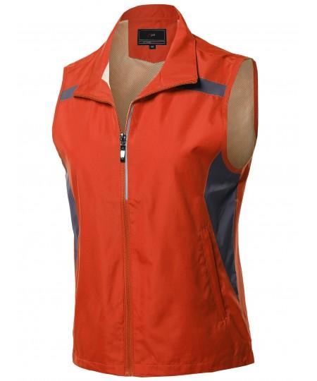 Women's Casual Zipper Closure Active Outdoor Utility Vest Outerwear