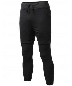 Men's Layered Leggings Pants